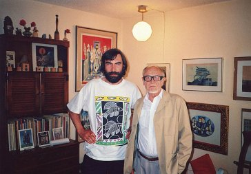1991 S maliarom L. Gudernom vo Vancouveri With painter L. Guderna in Vancouver