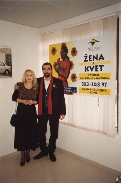 1997 S manželkou Marikou na jej výstave v Žltom dome v Poprade