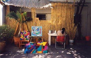 2000 Príprava na mexickú výstavu  Preparations for an exhibition in Mexico