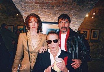 2002 S fotografom Janom Saudkom a Sárou With photographer Jan Saudek and Sára
