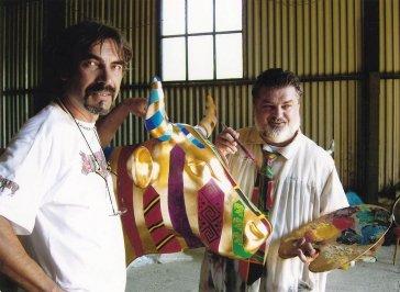 2005 Počas spoločného maľovania s Petrom Dvorským Painting with Peter Dvorský