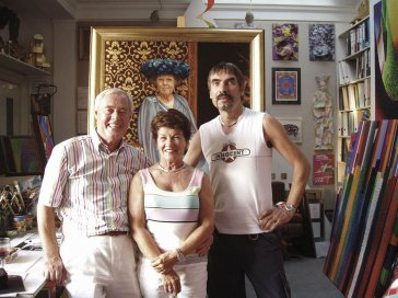 2006 V ateliéri s Gerardom Meulensteenom a manželkou Riky