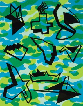 Na nebi a na zemi VIII | In the Sky and on the Earth VIII, 2007 serigrafi a | serigraphy, 38 × 29 cm