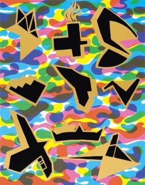 Na nebi a na zemi X   In the Sky and on the Earth X, 2007 serigrafi a   serigraphy, 38 × 29 cm