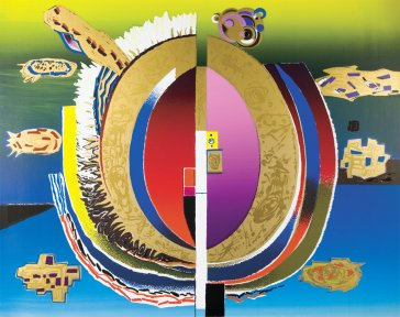 Zrodenie dňa | The Birth of Day, 1996 serigrafi a | serigraphy, 90 × 70 cm
