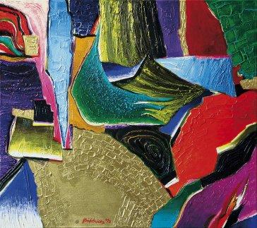 Farebné vízie I | Colour Visions I–IV, 1996 olej | oil, 75 × 80 cm