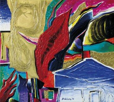 Farebné vízie III | Colour Visions I–IV, 1996 olej | oil, 75 × 80 cm