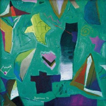 Hľadači ticha | Silence Seekers, 1991 olej | oil, 50 × 50 cm