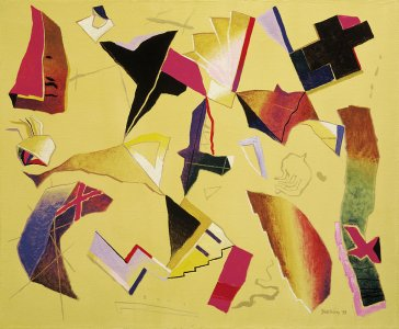 Znaky a symboly XII | Signs and Symbols XII, 1994 olej | oil, 70 × 85 cm