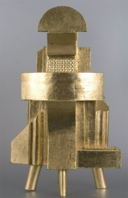 Huehueteotl | Huehueteotl, 2000 polychromované drevo | polychrome wood, 50 × 30 × 25 cm