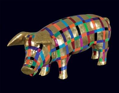 Pig Parody I | Pig Parody I, 2006 kombinovaná technika | mixed media, 27 × 50 × 25 cm