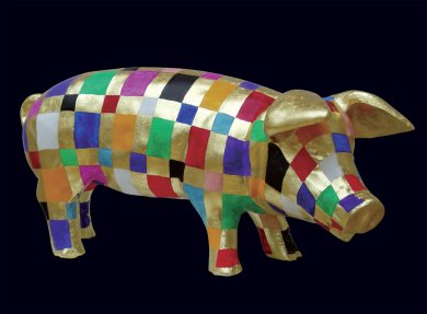 Pig Parody II | Pig Parody II, 2006 kombinovaná technika | mixed media, 27 × 50 × 25 cm