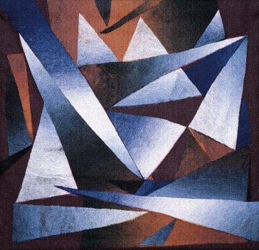 Modrý krištáľ | Blue Crystal, 1996 art protis | art protis, 90 × 110 cm