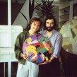 1990 Surrealista Martin Guderna na návšteve v mojom bratislavskom ateliéri Surrealist Martin Guderna visiting my studio