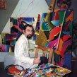 1996 Pri práci v bratislavskom ateliéri Working in the Bratislava studio