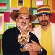 2000 S priateľom Petrom Dvorským a psíkom Punťom With my friend Peter Dvorský and dog Punťo